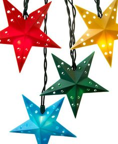 Kurt Adler Indoor/Outdoor String Lights, Multi-Colored Stars - Macy's