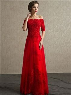 ericdress.com offers high quality  Ericdress A-Line Off -Shoulder Lace Beading Evening Dress  Elegant Evening Dresses unit price of $ 141.67.