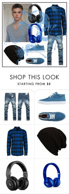 """Men's Look"" by kylieannaa ❤ liked on Polyvore featuring Pointer, Volcom, Beats by Dr. Dre, men's fashion and menswear"