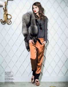 Estelle Yves for L'Officiel France February 2013