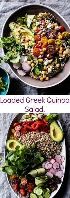 Loaded Greek Quinoa Salad | halfbakedharvest.com @hbharvest
