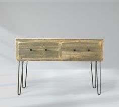 Reclaimed Wood Media Console, Tall Television Stand With Drawers - Free Shipping