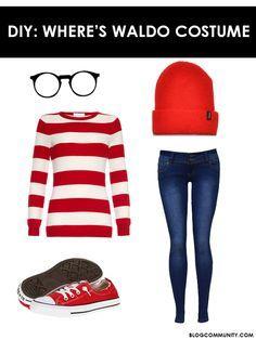 5 Last Minute Halloween Costumes   Where's Waldo Costume
