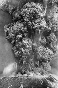 Mount St. Helens eruption. May 18th, 1980. I lived in Seattle at the time.  Big news.