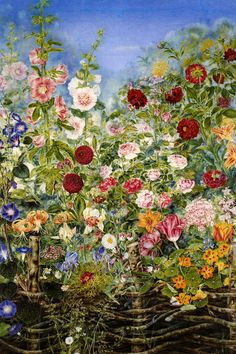 """Kateryna Bilokur 1900-1961 Ukrainian artist, master of folk decorative painting. Three paintings Bilokur - """"Tsar Kolos"""", """"Birch"""" and """"collective farm field"""" - were included in the exhibition of Soviet art at the International Exhibition in Paris (1954). Here they saw Pablo Picasso. The world flies his words: If we had an artist that level of skill, it would force her to talk about the whole world!"""