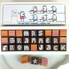 205b8607cf94f Thank You Teacher box of Personalised Chocolates by Cocoapod