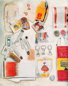 This is the work of Candy Jernigan, an artist who collected objects off the street, on journeys from her everyday life then presented them as artworks, books and drawings Mix Media, Object Drawing, Found Object Art, A Level Art, Everyday Objects, Everyday Items, Gcse Art, Lost & Found, Book Art