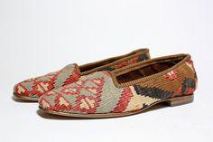 Kilim loafers