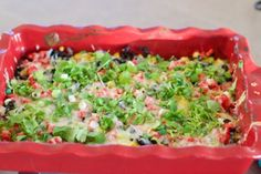 Baked 8 Layer Mexican Dip