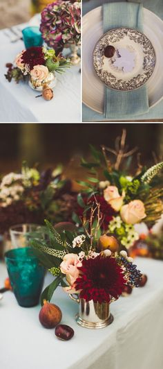 Autumn Fall Inspired Wedding Decor and Fashion Editorial by Rock My Wedding With Florals By Mrs Umbels Make up By Claire Salter Photographed. Wedding Table, Rustic Wedding, Our Wedding, Dream Wedding, Burgundy Wedding, Autumn Wedding, Marsala, Autumn Inspiration, Wedding Inspiration