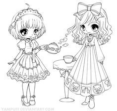 Giselle Chibi Lineart By Yampuff On Deviantart Cute Anime Chibi Girl Coloring Pages Clipart Email Chibi Coloring Pages Coloring Pages Coloring Pictures