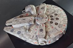 Check out this amazing Millennium Falcon cake made by the folks over at Cup a Dee Cakes. I love how beautiful and detailed this thing is! It would most certainly make it down to my stomach in less …