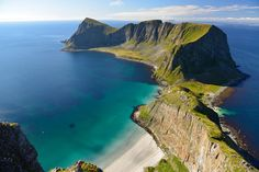 Værøy island in the far north of Norway