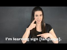 **Want to learn ASL American Sign Language? * 25 Basic ASL Signs for beginners * Link to Part 2 video Basic ASL Signs for Beginners ** Part. Sign Language Basics, Sign Language Phrases, Sign Language Alphabet, Sign Language Interpreter, Learn Sign Language, British Sign Language, Language Lessons, Grammar Lessons, Writing Lessons