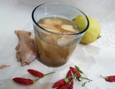 """Lemon-Ginger Cayenne Tea - """"Have a tickle in your throat you just can't shake? Sip on this tea that warms as it soothes"""". Detox Drinks, Healthy Drinks, Healthy Eating, Healthy Recipes, Healthy Desserts, Healthy Food, Smoothies, Ginger Honey Lemon, Ginger Tea"""