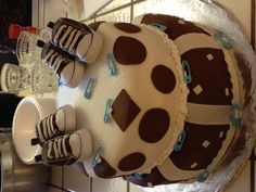 Baby twin boys shower cake