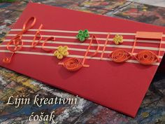 music quilling card