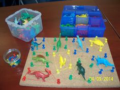 Love this idea of combining a geoboard with toys