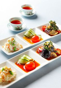 Three summer appetizers (Photo by Katsumi Oyama)