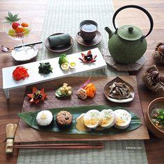 Exotic Food, Asian Recipes, Healthy Recipes, Breakfast For Dinner, Food Presentation, Food Design, Food Plating, Drinking Tea, Japanese Food