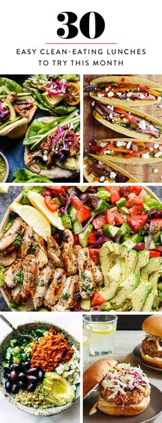 30 Easy Clean-Eating Lunches to Try This Month via @PureWow