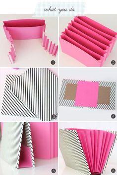 Renkli Kağıttan Dosya Yapımı - Resimli Anlatım