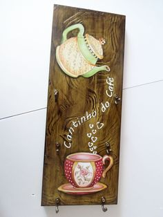 Diy Wood Projects, Wood Crafts, Diy And Crafts, Arts And Crafts, Arte Pallet, Pallet Art, Decoupage Vintage, Café Bar, Decoupage Furniture
