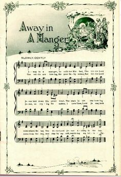 Beautiful Away in the Manger sheet music.