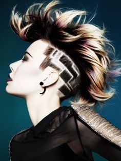 We love lotus undercut designs. Want more undercut hairstyles for women? Discover more badass undercuts here. Undercut Designs, Creative Hairstyles, Cool Hairstyles, Hairstyles 2016, Wedding Hairstyles, Haare Tattoo Designs, Undercut Women, Side Undercut, Wavy Hairstyles