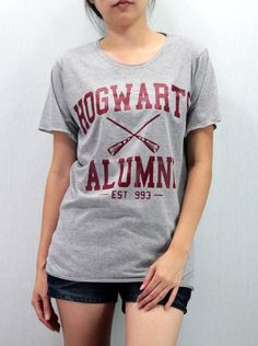 Maroon Hogwarts Alumni Shirt Harry Potter Shirt by Promegranate, $15.99 I WANTTTTTTTT-Melissa