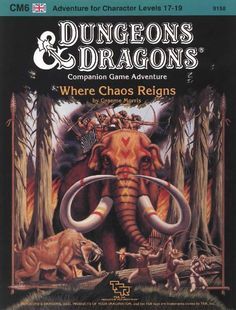 CM6 Where Chaos Reigns (Basic) | Book cover and interior art for Dungeons and Dragons Basic and Expert Editions - Dungeons & Dragons, D&D, DND, Basic, Expert, 1st Edition, 1st Ed., 1.0, 1E, OSRIC, OSR, Roleplaying Game, Role Playing Game, RPG, Wizards of the Coast, WotC, TSR Inc. | Create your own roleplaying game books w/ RPG Bard: www.rpgbard.com | Not Trusty Sword art: click artwork for source