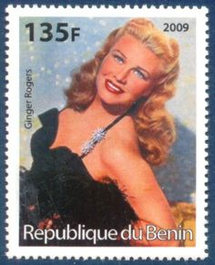 Ginger Rogers  classic postal Stamp