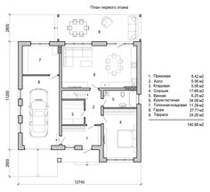 Pool House Plans, Garage House Plans, Plasma Tv, Double Storey House, Narrow Lot House Plans, Cozy Family Rooms, Contemporary House Plans, Cottage Plan, Apartment Layout