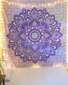 Green Bohemian Mandala Tapestry