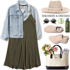 Sneakers and dresses by purpleagony on Polyvore featuring moda, Hollister Co., Gap, Bølo and Maison Michel