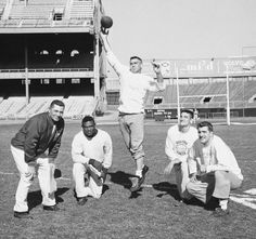 Vince Lombardi, Emlen Tunnel, Charley Connerly, Phil King, Alex Webster- Polo Grounds