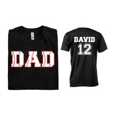Baseball Dad Men Shirt  Front and Back Design by misskaystitches