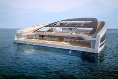 With more than 3,000-square-feet of living surface and three levels of decking, the WHY concept yacht is designed for living—and entertaining. In part, what distinguishes the design is its emphasis on sustainability (relative to other yachts.) The vessel relies on thermal energy and recycle organic and inorganic waste, ideally resulting in a low impact on the sea. As fantastical as this concept seems, it might be a good idea with the rising levels of the world's oceans.