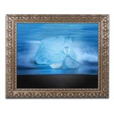 Trademark Fine Art 'Blue Jewel' Canvas Art by Philippe Sainte-Laudy, Gold Ornate Frame, Size: 16 x 20, Multicolor