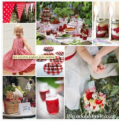 Gingham Series: Red Gingham Yes, please! Gingham is a big summer wedding trend right now. It is paired perfectly with picnic and BBQ wed...