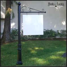 Torino Single Post Sign System   30in. or 40in. Arm Lengths