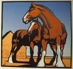 Heavy Horses, Christopher Wormell