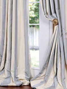 Hampton Faux Silk Taffeta Stripe Swatch