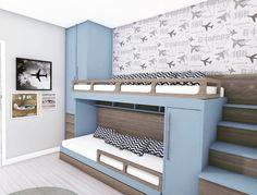 Best Home Decoration Magazine Modern Kids Bedroom, Cool Kids Bedrooms, Kids Bedroom Designs, Bunk Bed Designs, Room Design Bedroom, Kids Bedroom Furniture, Bedroom Layouts, Home Room Design, Kids Room Design