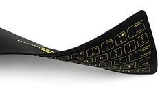 Ahue® Beeboard the Thinnest Bluetooth Rechargeable Foldable Keyboard in the World for iOS/ Android Device/Windows PC