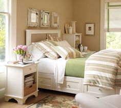 I heart this room!!!!  love the mirrors above bed....tutorial