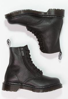 1460 PASCAL ZIP 8 EYE BOOT - Nauhalliset nilkkurit - black aab76d0786