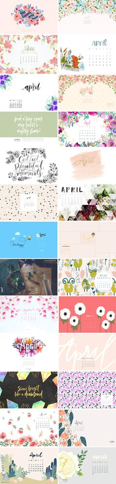 Happy April everyone!Enjoy the awesome wallpaper finds this month! 1. Paper Raven Co. | 2. Designer Blogs | 3. Blushed 4. Eva Shorey | 5. Charletters | 6. Gwen DeGroff 7. Lovilee | 8. Stylish Planner | 9. Lily & Val 10. Sugar Paper | 11. Candidly Keri 12. To Live Beautifully | 13. Flipsnack…