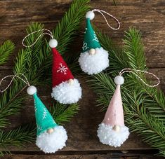 10 DIY Holiday Decorations That Will Make Your Christmas Tree Look Stunning This Year. The best handmade Christmas decoration ideas including easy Christmas crafts Handmade Christmas Decorations, Christmas Ornament Crafts, Christmas Crafts For Kids, Christmas Projects, Simple Christmas, Holiday Crafts, Christmas Ideas, Homemade Decorations, Scandinavian Christmas Ornaments