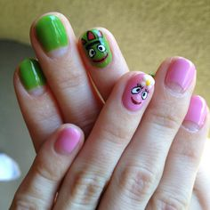 Yo Gabba Gabba Foofa and Brobee nails
